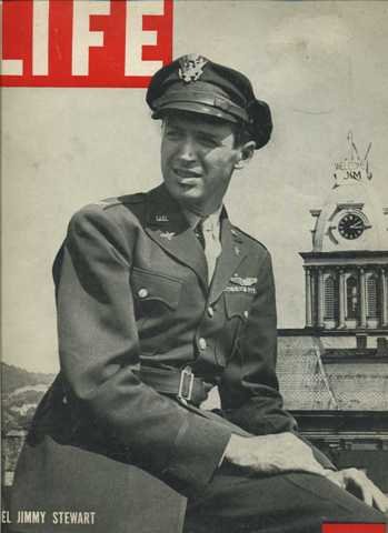 Colonel Jimmy Stewart on the cover of LIFE Magazine September 24, 1945