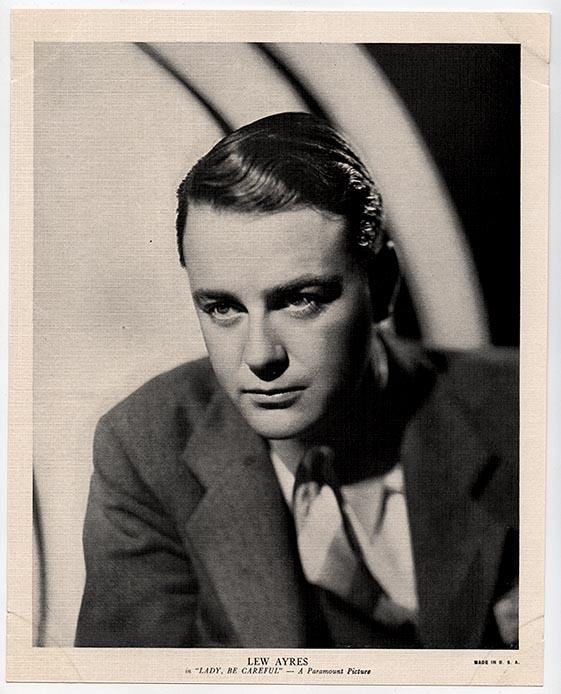 Lew Ayres 1936 R95 8x10 Linen Premium Photo