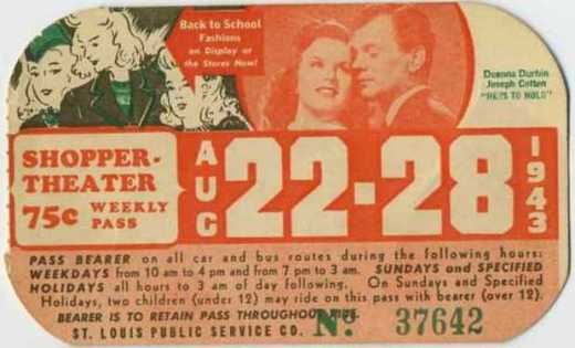 """August 22-28, 1943 - Deanna Durbin and Joseph Cotten in """"Hers to Hold"""" - Sold April 2, 2009 for $28.00"""