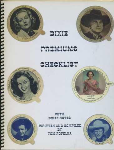 Dixie Premiums Checklist by Tom Popelka