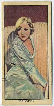 Ida Lupino is featured here on a 1939 Mars Confections Trading Card