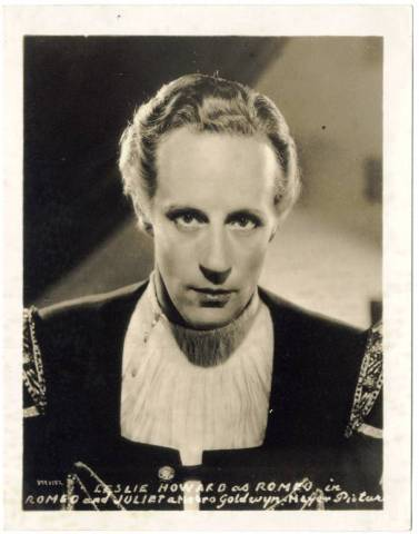 Howard as Romeo on a 1936 MGM 4x5 Promotional Photo issued by Watkins Mulsified Shampoo