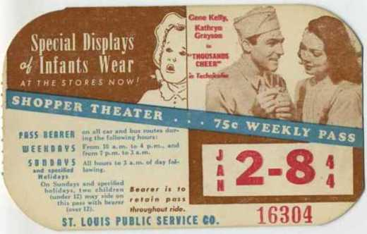 """January 2-8, 1944 - Gene Kelly and Kathryn Grayson in """"Thousands Cheer"""" - Sold April 16, 2009 for $93.00"""