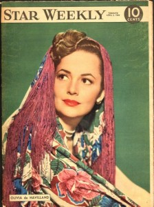 Olivia de Havilland cover of The Star Weekly