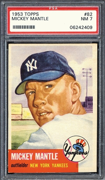 I believe this may actually be the 53 Topps Mantle that my friend purchased.  Click through to Robert Edward Auctions sales page for more info about this card.