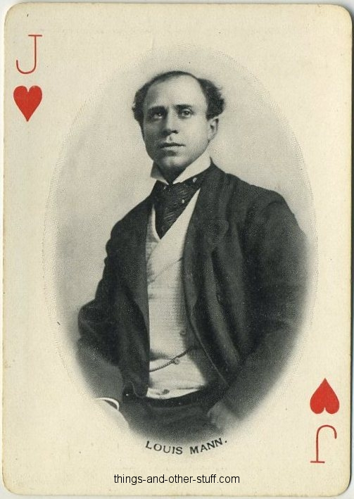 Louis Mann 1902 Playing Card