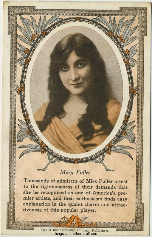 Mary Fuller 1916 Cahill-Igoe Movie Card