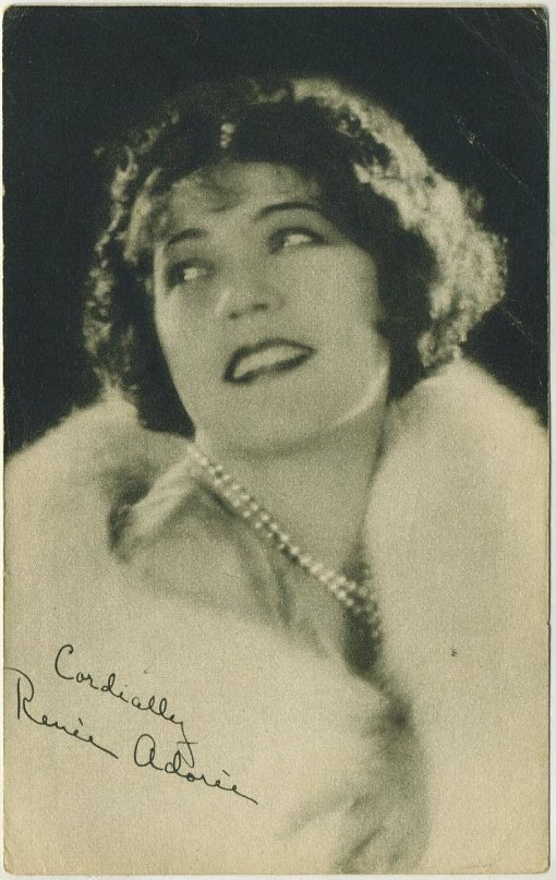 Renee Adoree circa 1928 Blatz Gum Favorite Screen Stars Trading Card