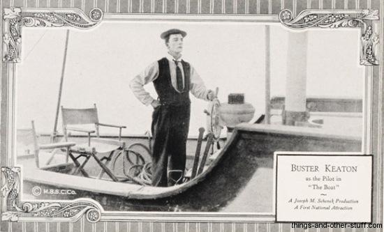 Buster Keaton MBSC Postcard