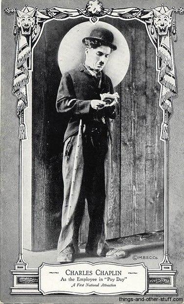 Charlie Chaplin MBSC Postcard