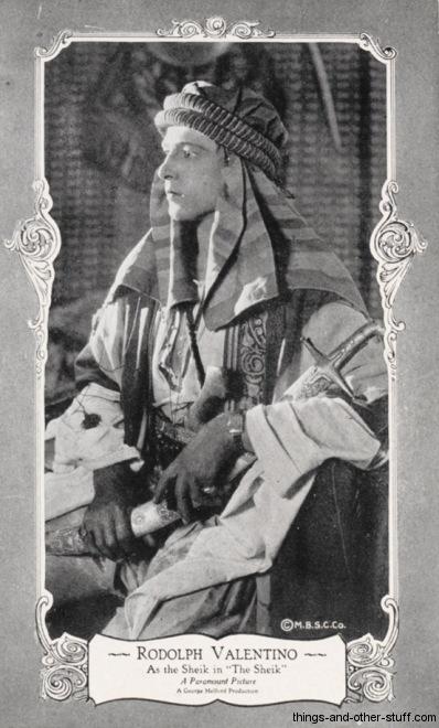 Rudolph Valentino MBSC Postcard
