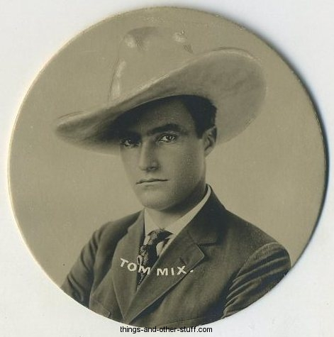 Tom Mix 1924 Godfrey Phillips Circular Tobacco Card