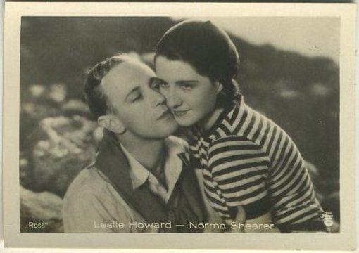 Leslie Howard and Norma Shearer 1930s Batschari German Tobacco Card