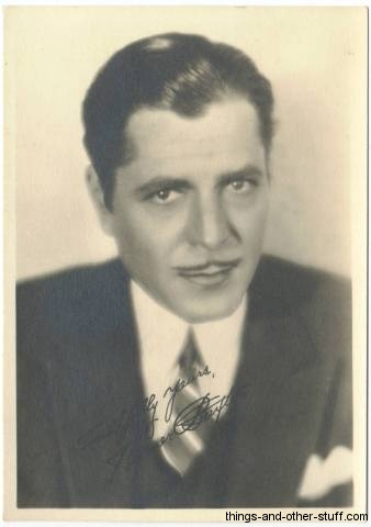 Warner Baxter fan photo