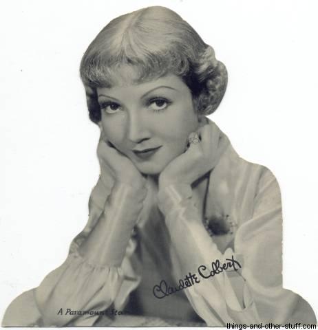 1930s Claudette Colbert Quaker Standee