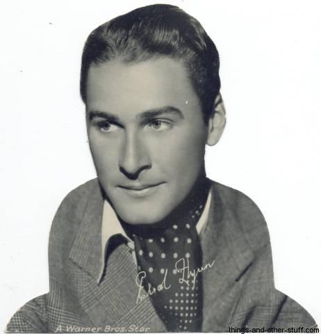 Errol Flynn Quaker Standee