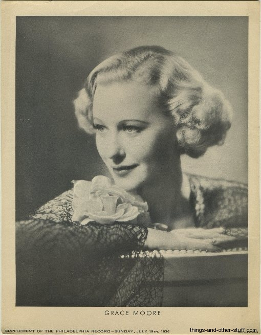 Grace Moore 1936 Philadelphia Record Newspaper Supplement