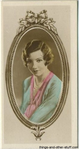 Claudette Colbert 1934 Godfrey Phillips Stars of the Screen Tobacco Card
