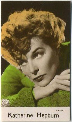 Katharine Hepburn 1935 Bridgewater Trading Card