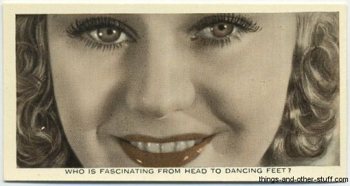 Ginger Rogers 1936 Ardath Tobacco Card