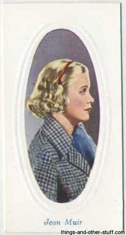 Jean Muir 1936 Godfrey Phillips Screen Stars Tobacco Card