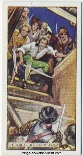 1937 B Morris Captain Blood tobacco card