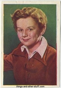 Freddie Bartholomew 1937 Nestles Trading Card