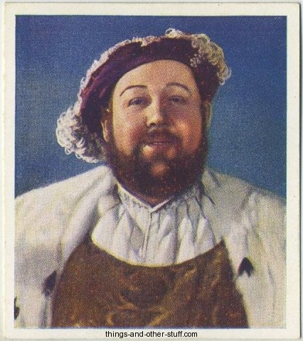 Charles Laughton 1938 Godfrey Phillips Characters Come to Life Tobacco Card