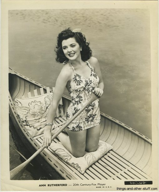 Ann Rutherford 1940s era 20th Century Fox 8x10 Publicity Photo