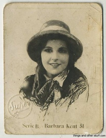 Barbara Kent circa 1926 Abel Hermanos Series B tobacco card