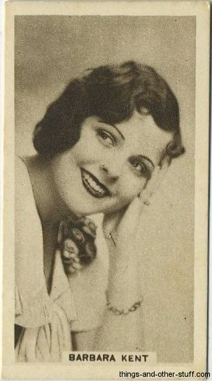 Barbara Kent 1933 Abdulla Tobacco Card