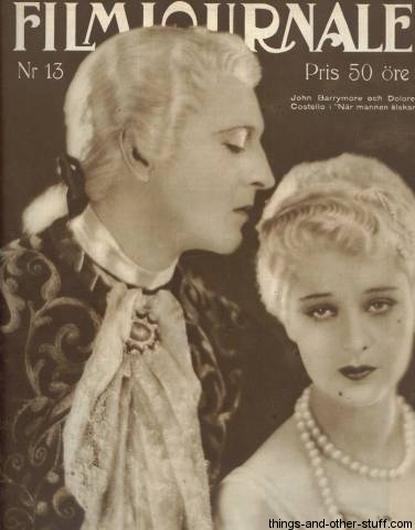 John Barrymore Dolores Costello Filmjournalen Cover