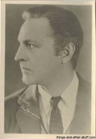 John Barrymore 1920s Fan Photo