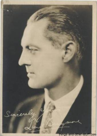 Lionel Barrymore 1920s Fan Photo