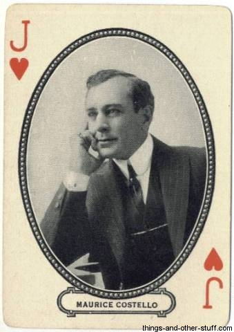 Maurice Costello 1916 MJ Moriarty Playing Card