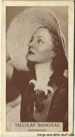Tallulah Bankhead 1934 Tobacco Card