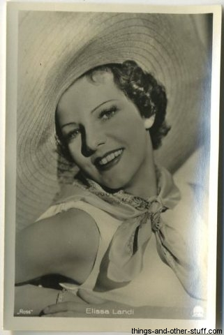 Elissa Landi 1930s Haus Bergmann German Tobacco Card