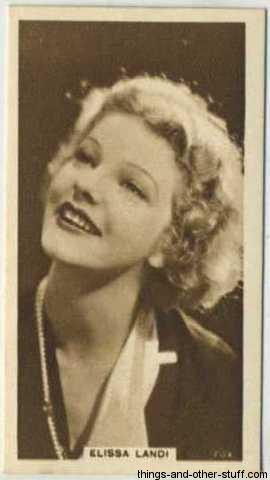 Elissa Landi 1933 United Kingdom Cinema Stars Tobacco Card