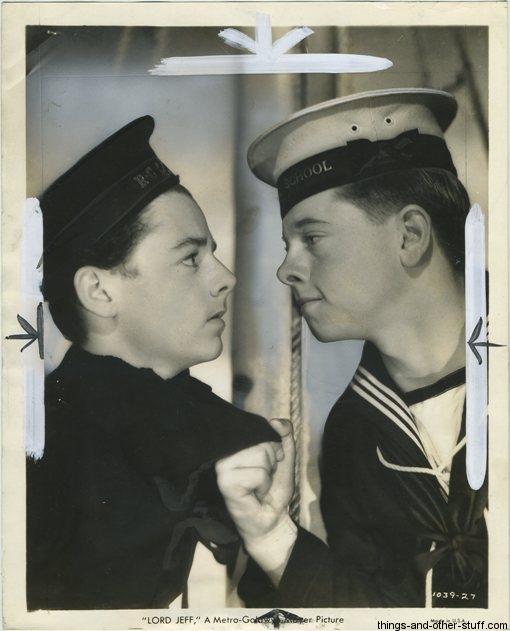 Freddie Bartholomew and Mickey Rooney