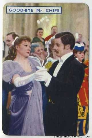 With Robert Donat in Goodbye Mr Chips 1939 Film Fantasy Game Card