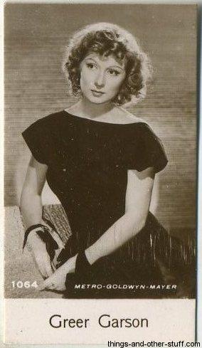 Greer Garson 1940 De Beukelaer Trading Card