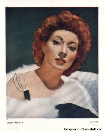 1940s Color Paper Photo of Greer Garson purchased from Irving Klaw