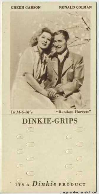 1948 Dinkie Grips Greer Garson and Ronald Colman