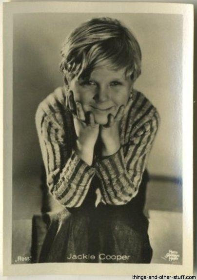 Jackie Cooper 1930s Haus Bergmann German Tobacco Card