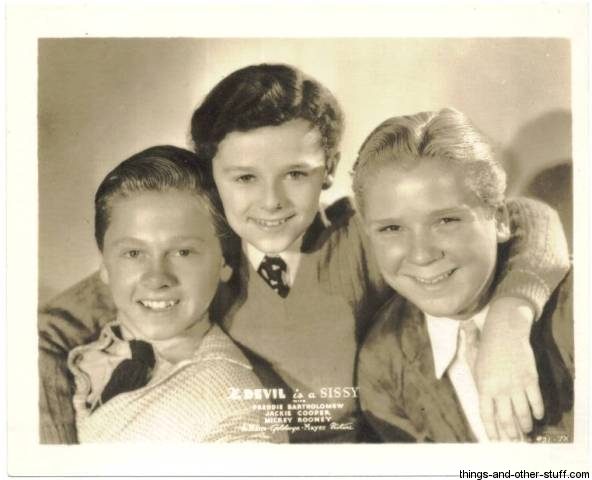 Mickey Rooney, Jackie Cooper and Freddie Bartholomew in The Devil Is a Sissy