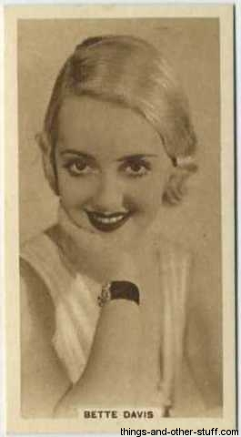 Bette Davis 1933 United Kingdom Cinema Stars Tobacco Card