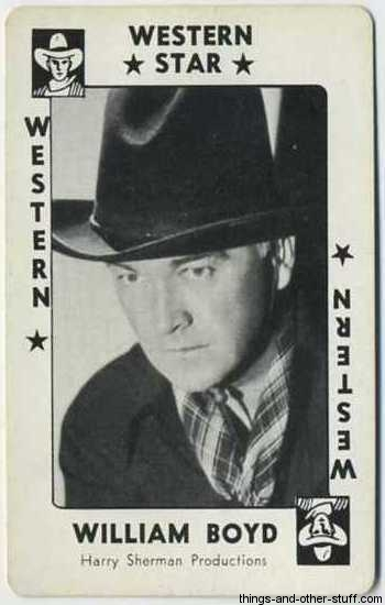 1938 Movie Millions Game Card featuring William Boyd aka Hopalong Cassidy