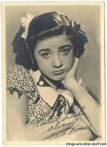 Edith Fellows 1930s 5x7 Fan Photo