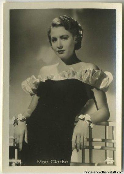 Mae Clarke 1930s Haus Bergmann German Tobacco Card