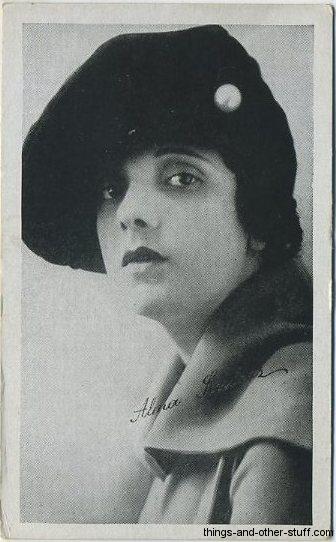 Alma Rubens 1917 Trading Card